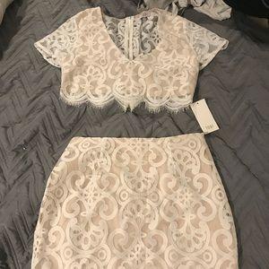 White two piece